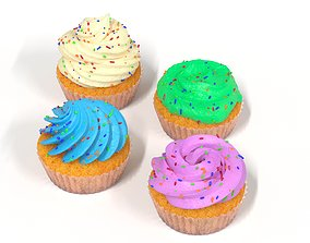 baked 3D Cupcake