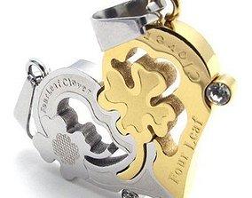 Heart pendant 3D print model gem