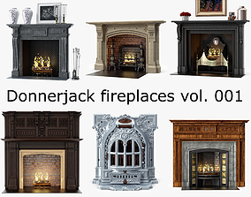 6 Fireplaces by Donnerjack 3D model