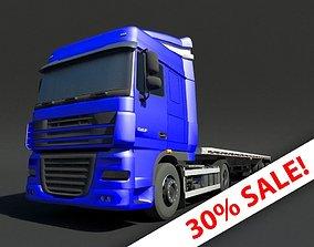 3D asset Flatbed Truck