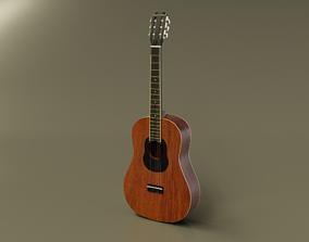 Guitar 3D model instrument