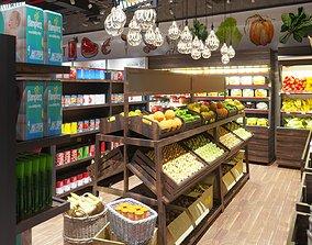 3D model Supermarket various