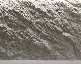 3D black Rock wall 5