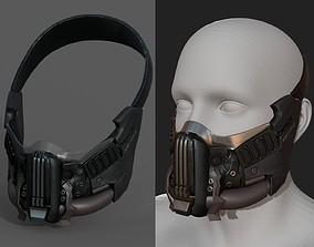 Helmet gas mask scifi military combat armor 3D model