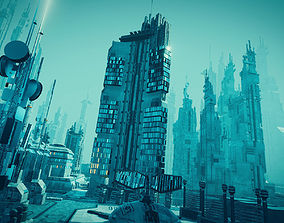 Sci Fi Cityscape 3D model