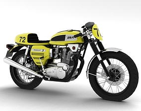 3D model BSA Rocket 3 Racer 1969