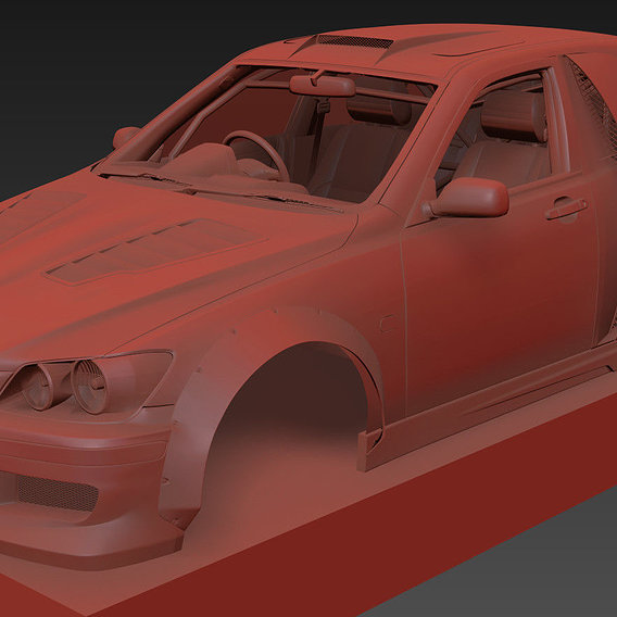 """Modeling Concept body kit for Toyota Altezza """"RDS"""""""