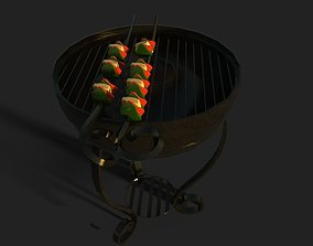 Barbeque 3D Model VR / AR ready