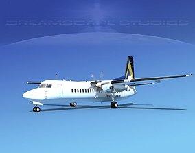 3D model Fokker 50 Ansett Australia