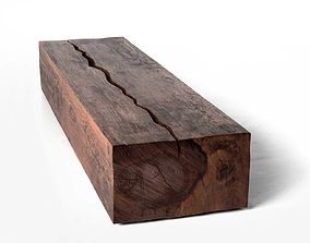 3D model Rectangular Log Coffee Table