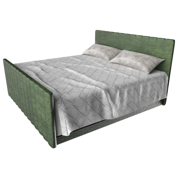 Camille Bed Queen - 3D Model Asset