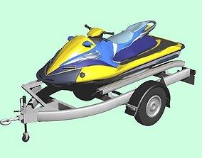 Personal Watercraft 2Seater JetSki 3D model