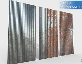 Corrugateed galvanized sheets 3D asset