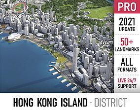3D model Hong Kong Island