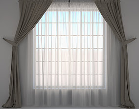 Curtains and tulle 3D model