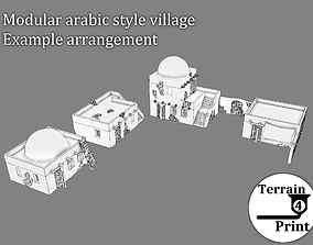 3D printable model Modular arabic village