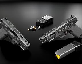 3D model game-ready Glock 19 Tactical Handgun