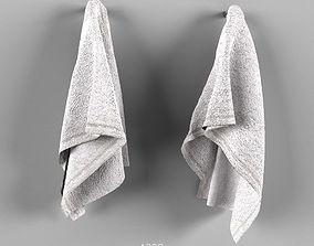 Set of towels 3D model