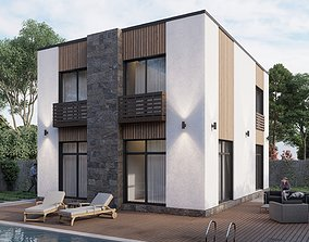 Modern residential building V5 3D