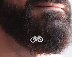 3D printable model Bike for beard - front wearing