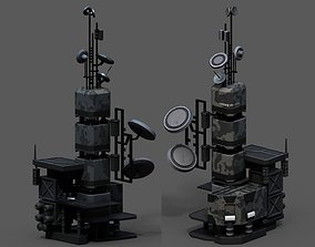 Scifi tower skyscraper building exterior 3D model
