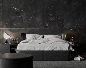 3D model Black Bedroom