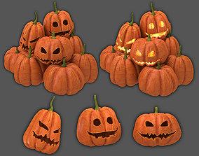 3D model disguise Halloween pumpkins