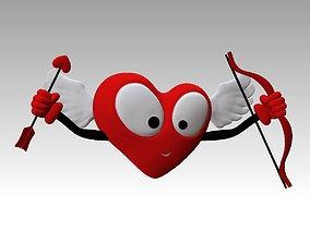3D Printable Cupidon Heart