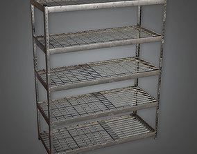 Large Metal Shelf TLS - PBR Game Ready 3D model