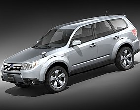 Subaru forester midpoly 3D
