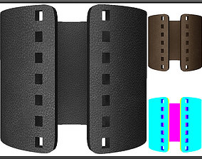 PERFORATED SQUARE HOLES LEATHER 3D asset