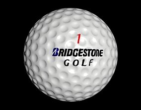 golf ball 2 3D asset