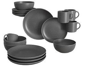 Mason 16-Piece Dinnerware Set 3D