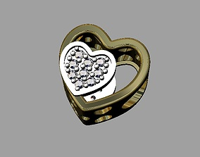 Heart Pandora Bead 3D print model