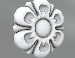 Carved Rosettes Medallions details 3D model