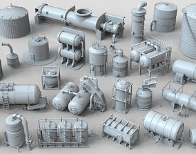3D model Industrial Tanks - part-2 - 25 pieces