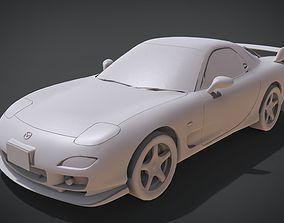 Mazda RX-7 3D print model