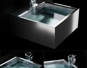 Stainless Steel Kitchen Sink furniture 3D