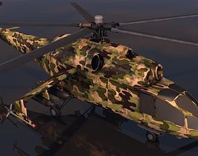 3D asset Low poly VR AR game ready Gunship