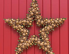 Christmas Wreath ornament 3D