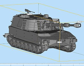 self-propelled M109 Howitzer Highly Detailed 3D print model
