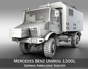 3D Mercedes Benz Unimog U1300L - German Ambulance