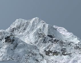 3D model Mountain under snow