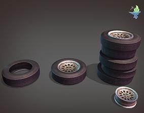 Abandoned Wheel 3D asset