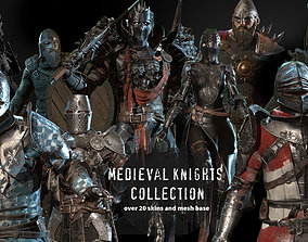 medieval knights collection 3D model
