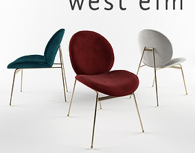 3D model West elm Jane Dining Chair
