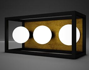 3D model Lamp Wall Box Modern