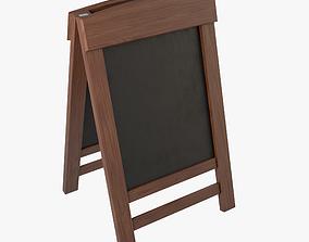 3D model Menu Board Stand 01