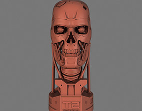 Terminator T-800 Skull Bust for 3d printing miniatures