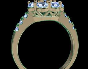 Dainty Halo Diamond Engagement Ring 3D printable model